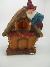 """Wooden Welcome Gnome birdhouse Hanging Bird House Brown 7 1/2"""" #464"""