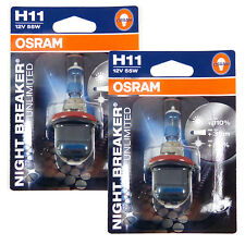 OSRAM New! - H11 Night Breaker Unlimited (Pair)  110% PLUS Improvement German