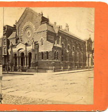 WOODWARD & ALBEE ROCHESTER NY STEREOVIEW CHURCH OF THE MESSIAH MANHATTAN NY