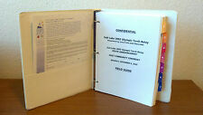 RARE 2002 WINTER OLYMPIC SALT LAKE GENUINE USOC OLYMPIC TORCH CONFIDENTIAL BOOK