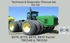 John Deere 8570 8770 8870 8970 Tractor Tests Amp Technical Manual Set Tm1549
