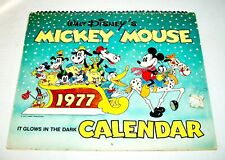Mickey Mouse 1977 Glow In The Dark Calendar