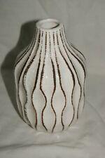 Jeff Banks Cream Crackle Glaze With Stripes Vase Ports Of Call 16.5 cm 74837