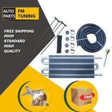 Transmission Oil Cooler Universal Aluminum Remote Manual-Auto Radiator Converter