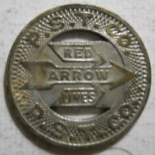 P.S.T. Co. Red Arrow Lines (Upper Darby, Pennsylvania) transit token - PA935B