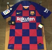 Nike Men's FC Barcelona Messi Vapor La Liga Home Jersey 2019/ 20 Blue Small NWT