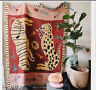Large Pink Panther Rug Cotton Throw Sofa Bed Cover Blanket Wall Hanging Tapestry