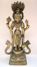 Antique Hindu Lord Vishnu God Narayan Standing Brass Statue Size 8 inches