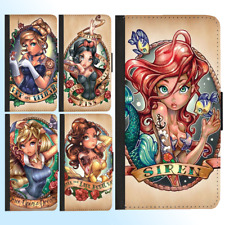 iPhone X 8 8 Plus 7 6s Plus PU Leather Flip Wallet Case Disney Princess II Cover