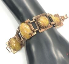 "Vintage Bracelet 7"" Copper Southwest Lucite Speckled"
