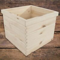 XLarge Square Unpainted Wooden Planter Indoor Flower Box Plant Pots To Decorate