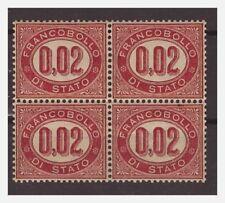 SERVIZIO 1875 2  Cent Nuovo ** QUARTINA  LUSSO