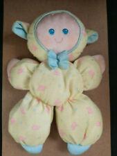Fisher Price Slumber Babies Yellow Lamb Soft Plush Baby Doll - vintage 1990-1992