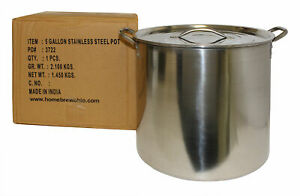 5 gallons Economy SS Brew Kettle Brew Pot Homebrew