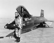 Neil Armstrong with NASA X-15 rocket aircraft Photo Print