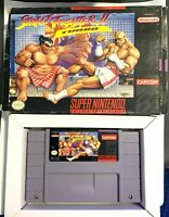 Street Fighter II Turbo SNES w/ Box NO Manual (Super Nintendo 1993) Tested