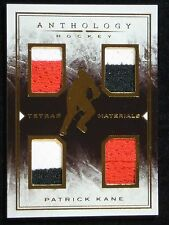 2014-15 PANINI ANTHOLOGY HOCKEY - PATRICK KANE TETRAD MATERIALS   #133/199!!!