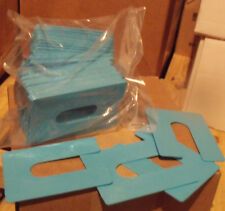 1/16 x 3 x 4 Plastic U-Shims - Black - 25/Pack