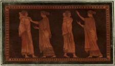 Décoration Art Etrusque Costume Antiquité Grèce Hamilton Gravure ancienne 1785
