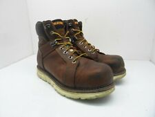 "Wolverine Men's 6"" I-90 DuraShock Saftey Toe Wedge Work Boot Brown Size 10Ew"