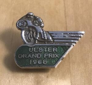 Vintage ULSTER GRAND PRIX 1968 Racing Motorcycle Bike RARE small Badge