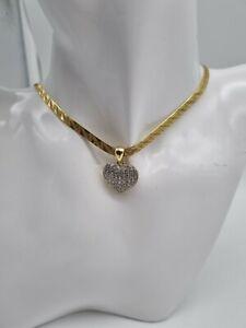 750 Gelbgold Collier,Kette mit Anhänger Diamant/Brillant 0,56ct