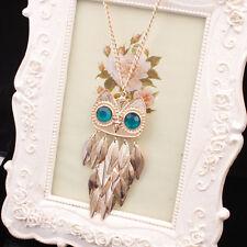 Mode Collier Femme Sautoir Pendentif Cristal Bijoux Chaîne Cadeau Vintage NeufFR