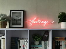 New Feelings Neon Sign For Bedroom Wall Home Decor Artwork With Dimmable Dimmer