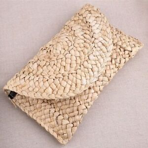 Women Straw Knitted Bag Summer Mini Bohemia Handmade Rattan Woven Handbag