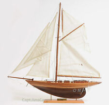 "Pen Duick Wooden Sailboat Model 24"" Eric Tabarly's Yacht Fully Assembled New"
