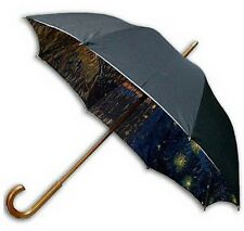 "Gogh ""Starrynignt over the Rhone"" double sewing long size automatic umbrella"