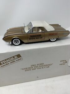 Danbury Mint 1961 Ford Thunderbird Convertible Pace Car Indy 500 1/24 Diecast