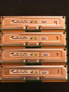 1GB (4x256MB) 800-45 800MHz ECC 184-Pin SAMSUNG RDRAM Memory Modules