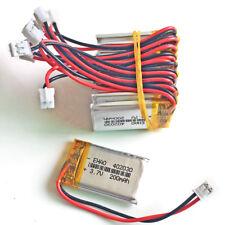 10pcs 3.7V 200mAh lipo Battery Cells 402030 JST 2.0mm For Smart band headset MP3