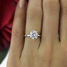 1 Carat D Vvs1 Solitaire Engagement Ring Round Cut 14k White Gold