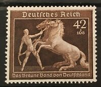 Germany 1939 3rd Reich Mi 699 Sc B145 Brown Ribbon Race ,Horse Handler MNH