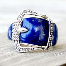 R587  Bague Boucle de ceinture Argent Massif 925  Lapis Lazuli  t57