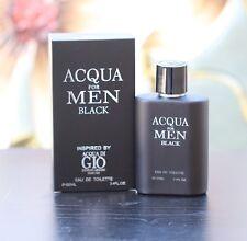 ACQUA FOR MEN BLACK EAU DE COLOGNE TOILETTE PARFUM PERFUME 3.4 OZ EBC COLLECTION