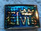 NOS ELVIS PRESLEY BLUE CROWN BELT BUCKLE