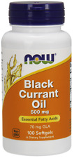 Black Currant Oil 500mg Now Foods 100 Softgel