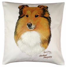 Shetland Sheepdog Sheltie RM Dog Themed Cotton Cushion Cover - Perfect Gift