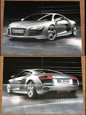 AUDI R8 Double Sided Poster Brochure circa 2007-2008