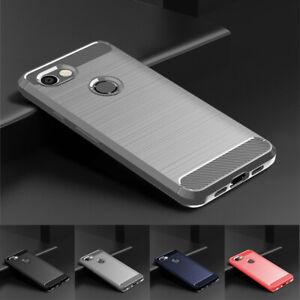 For Google Pixel 5 4a 5G 3a XL 3 XL 2 XL Carbon Fiber Rubber Soft TPU Case Cover