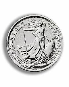 2017 Britannia 20th Anniversary Trident 1 oz Silver Bullion Coin.
