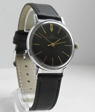 NICE GENTS WATCH LUCH BLACK DIAL ULTRA-SLIM SOVIET RUSSIAN *Serviced*