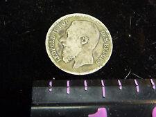 .835 Silver 1867 Belgium 2 Francs Leopold II