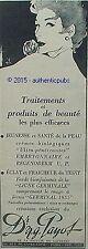 PUBLICITE DE N. G. PAYOT PRODUITS DE BEAUTE ROSE SIGNE GRUAU DE 1955 FRENCH AD