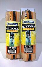 COPPIA COPERTONI MICHELIN AXIAL BI-SPORT ARANCIO/NERO 700X20C CICLOSPORT