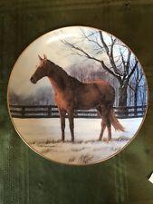 Winter Pasture Horse Plate by Donald W. Patterson Danbury Mint