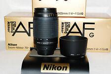 Beautiful Nikon Zoom-Nikkor AF-G 70-300 Lens with Warranty, For larger DSLRs